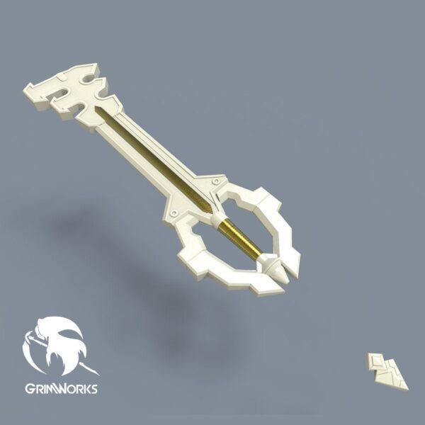 Earthshaker Keyblade, 3d printed replica,