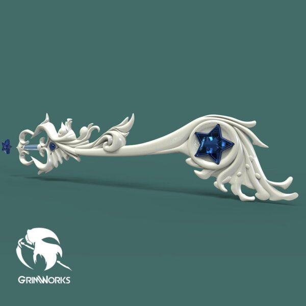 Brightcrest, Aqua's Keyblade 3d printed